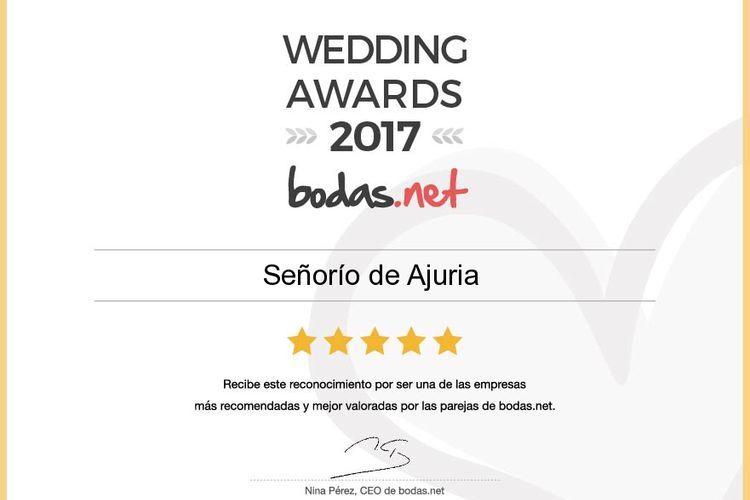 Premio a la mejor finca de bodas