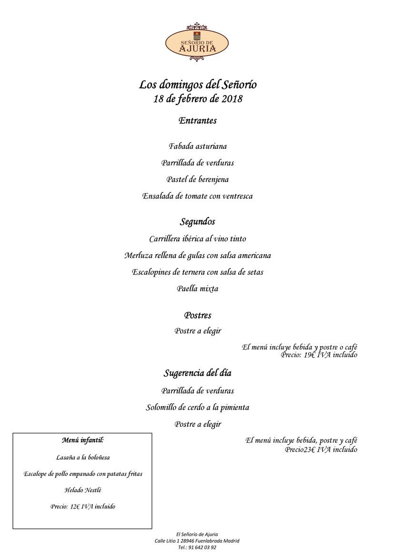 menu domingo 18.02